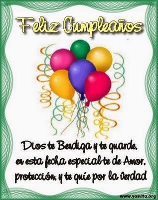 Frases Para Cumpleaños: Feliz Cumpleaños Dios Te Bendiga Y Te Guarde