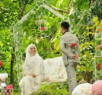 Gaun Pernikahan Muslimah Terindah Ala Oki Setiana Dewi