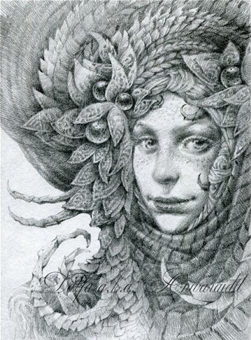 18-Freckles-Olga-Anwaraidd-Drawings-Fantasy-Portraits-Imaginary-Characters-www-designstack-co