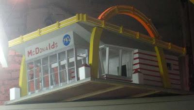 Handmade McDonald's building, circa 1965