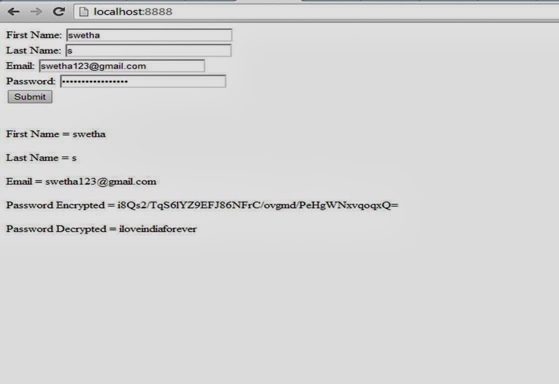 Kumaran1987 jsp java password encrypt and decrypt example output baditri Gallery