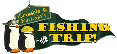 Grumble & Piccolo's Fishing Trip Logo - We Know Gamers