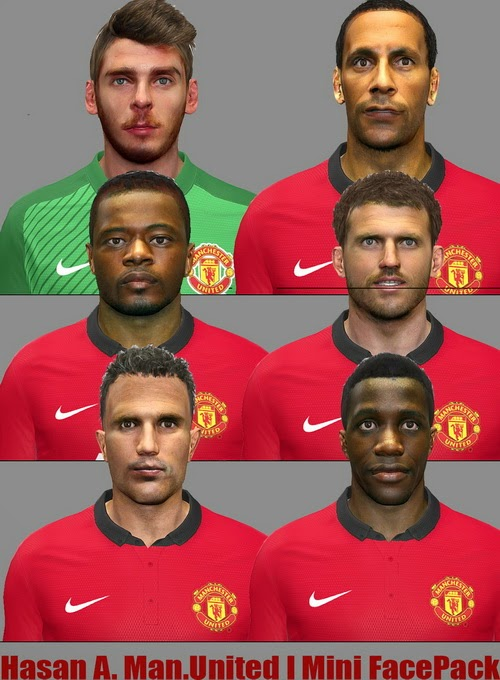 PES 2014 Man. United Mini FacePack by Hasan A.