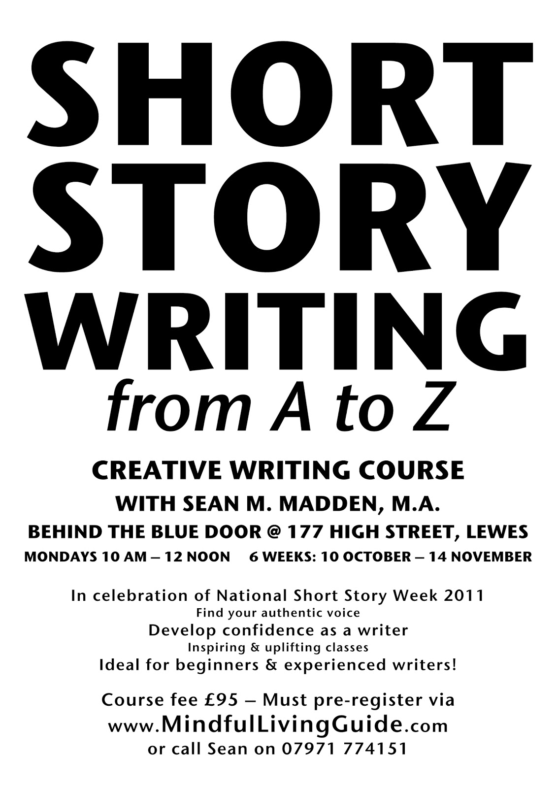 short creative writing courses melbourne