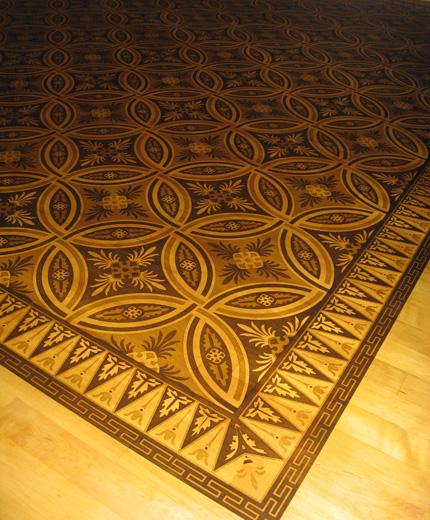 Chet pourciau design hardwood flooring inlay for Floor inlay designs