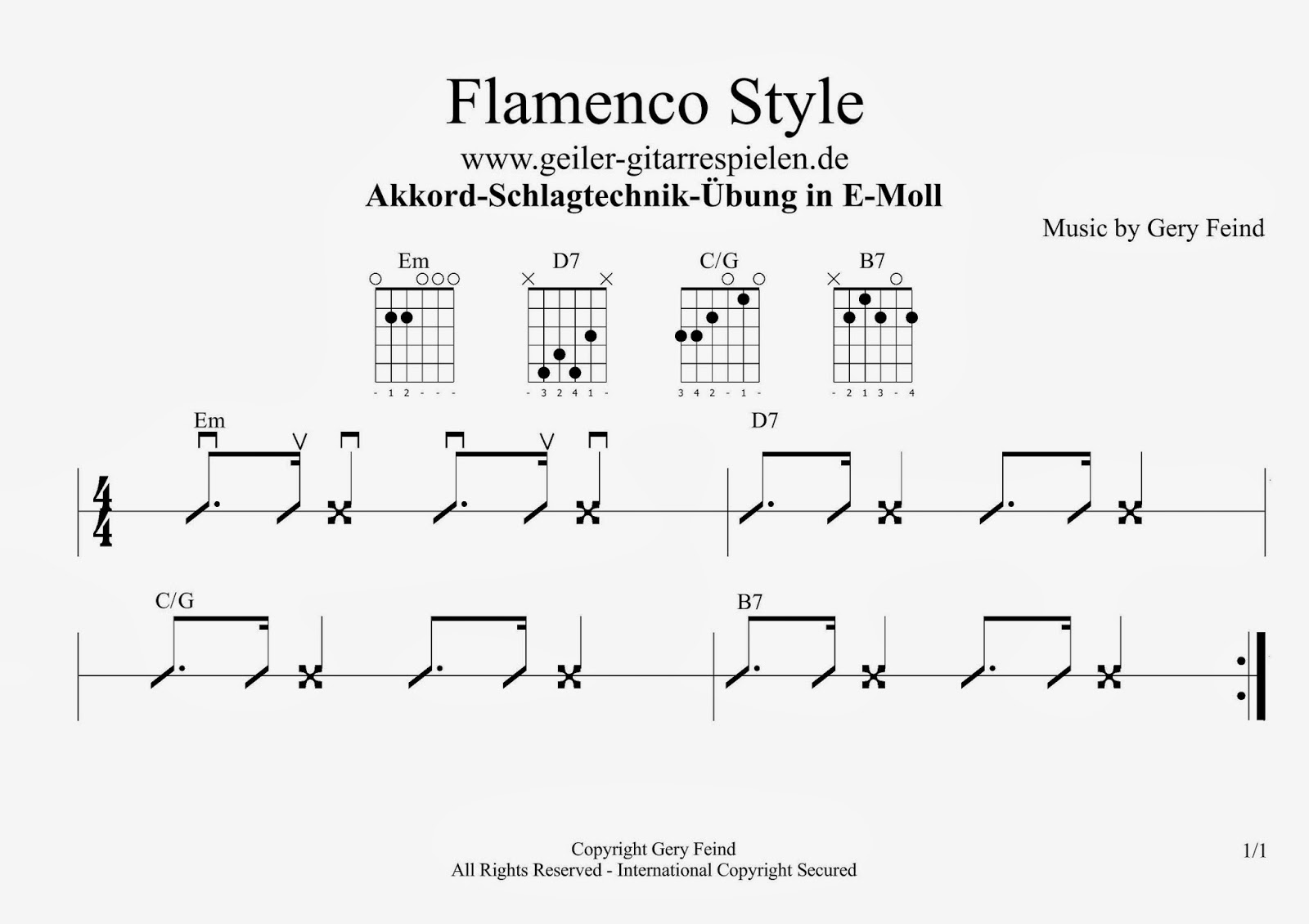 schlagmuster im flamenco style einfach geiler gitarre spielen. Black Bedroom Furniture Sets. Home Design Ideas