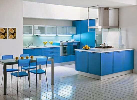 ini 12 gambar desain dapur minimalis warna biru blog