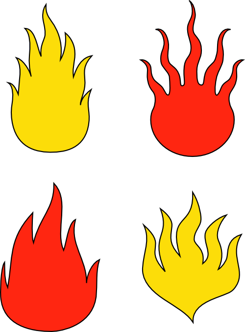 Dibujo HERLDICO El fuego