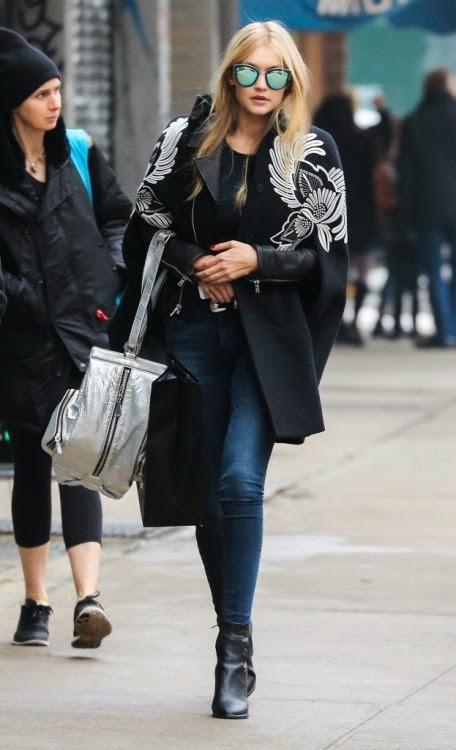 Gigi Hadid Street Style Stella McCartney Cape and Quay My Girl Sunglasses NYC February 8 2015