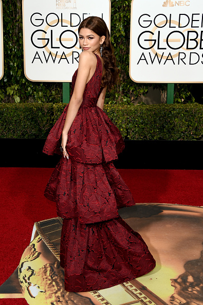 zendaya golden globe marchesa