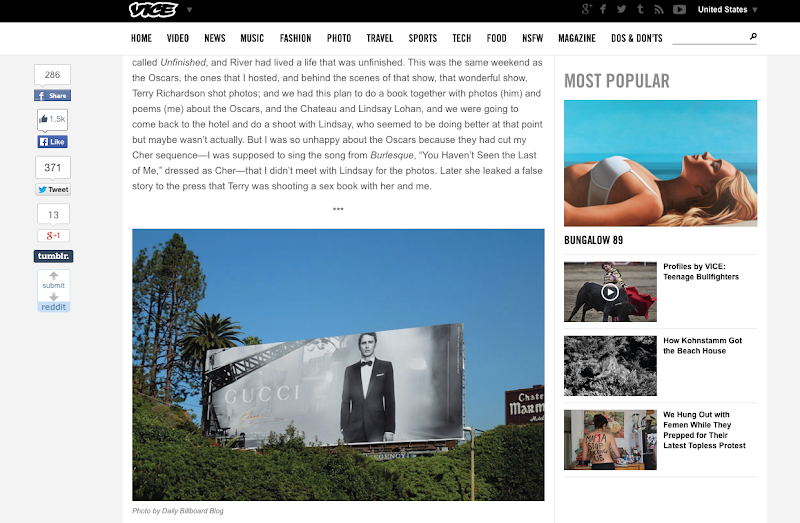 Vice James Franco Bungalow 89 webpage