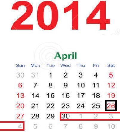 30 tháng 4 được nghỉ mấy ngày ? – 30/4/2014