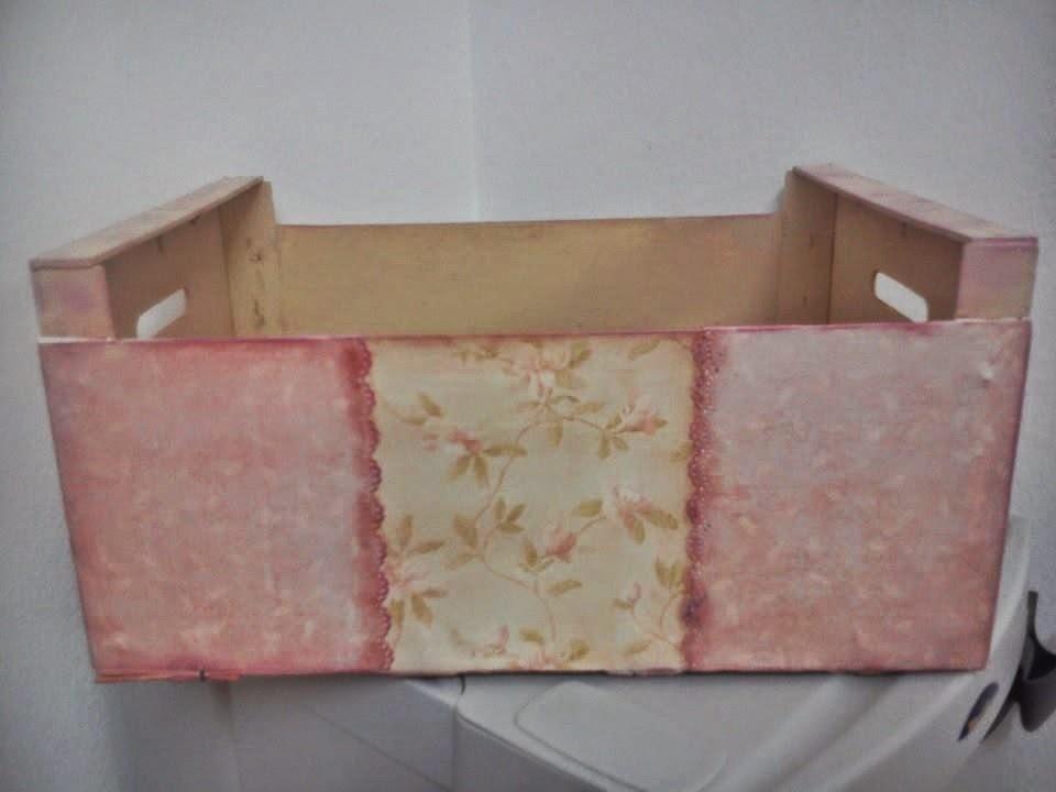 Manualidades anaki cambio de imagen a una caja de fruta - Manualidades con cajas de frutas ...