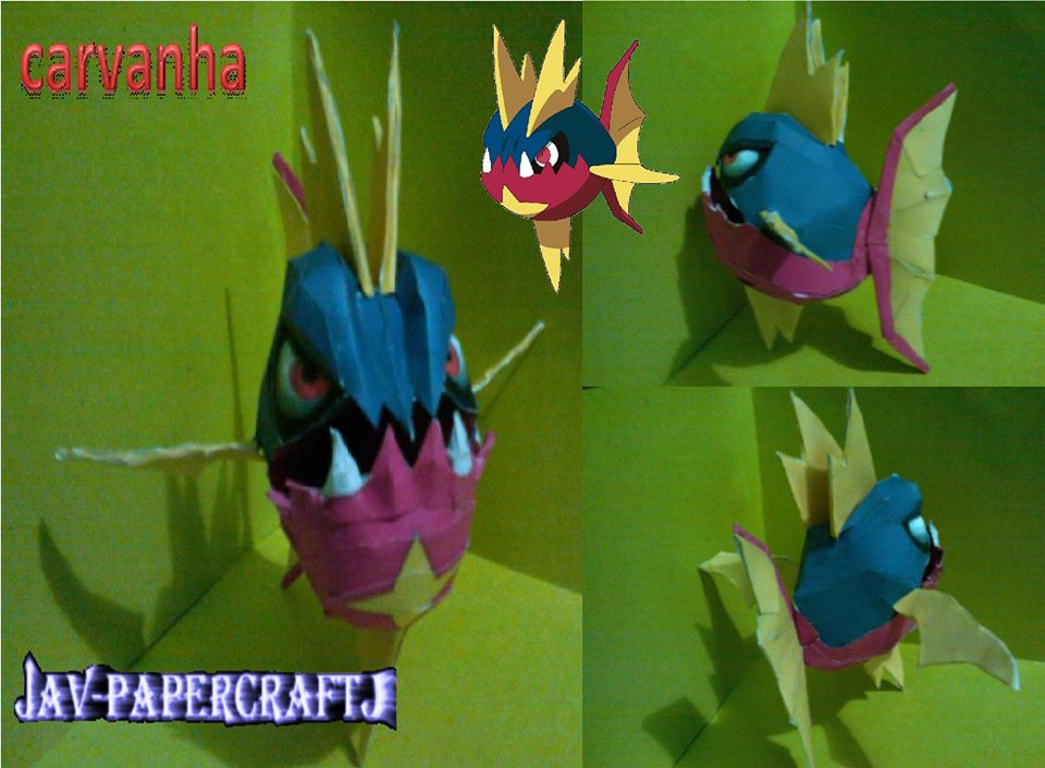 Pokemon Carvanha Papercraft
