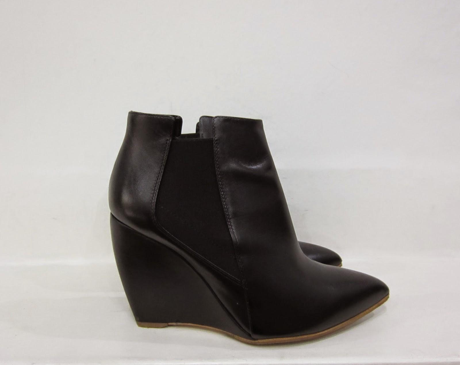 Rupert Sanderson Black Wedge Heel Boots