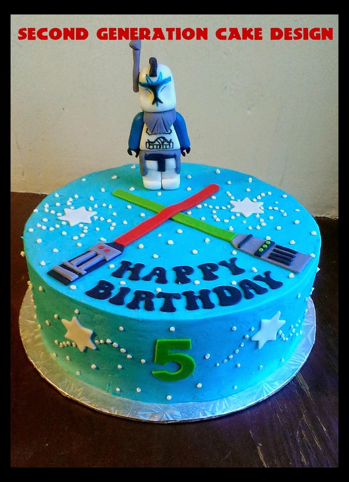 Second Generation Cake Design Lego Star Wars Birthday Cake