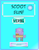 photo of Scoot Fun Verbs, game, TeachersPayTeachers.com Ruth S.