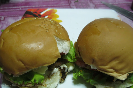 Delicious home-made burgers