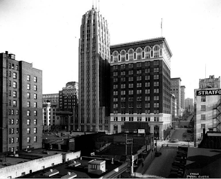 1929 view of Seattle Tower and Telephone Building, taken by famous photographer Asahel Curtis