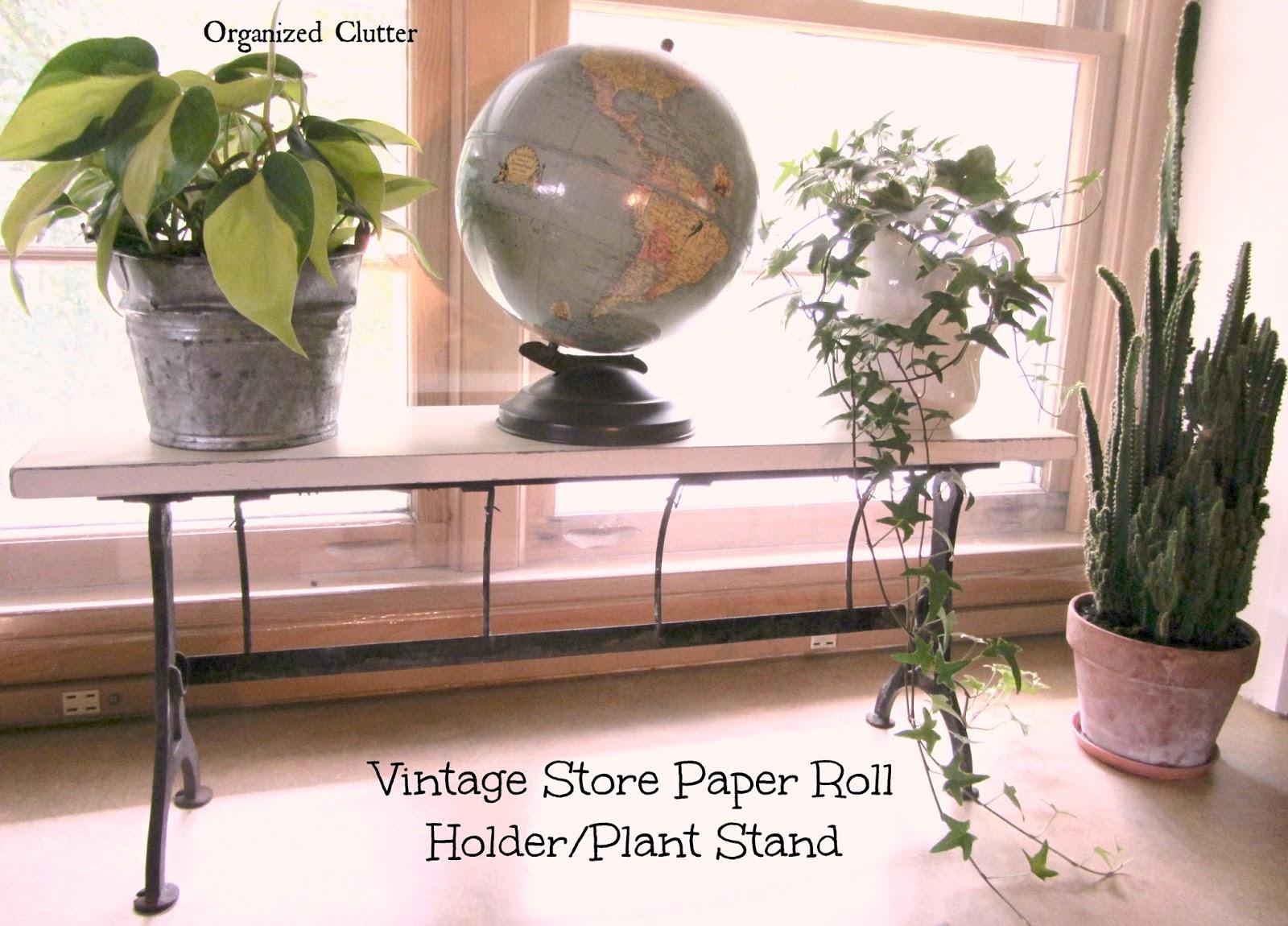 Rustic Plant Stand or Shelf www.organizedclutterqueen.blogspot.com