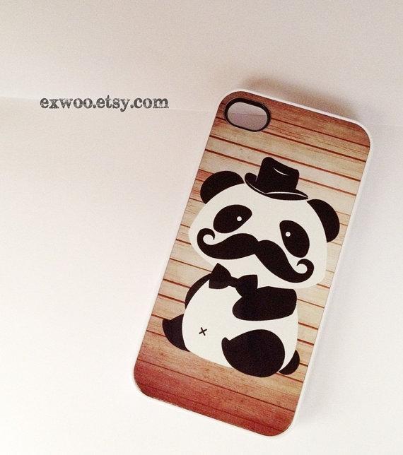Mr. Panda Mustache iPhone Case | Panda Geeks