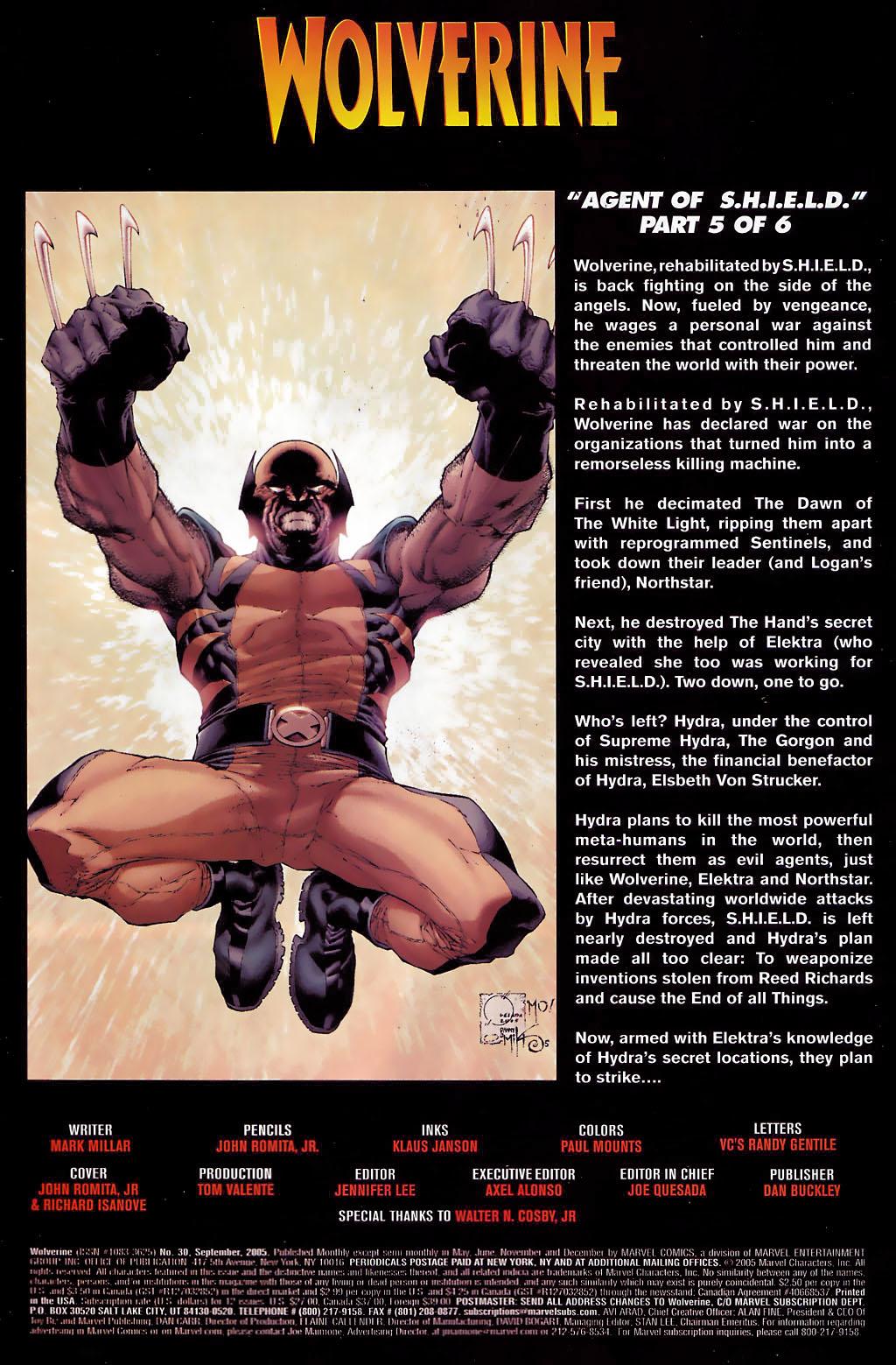 Read online Wolverine (2003) comic -  Issue #30 - 2