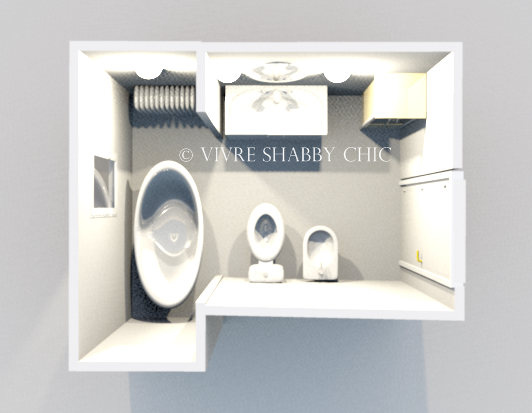 Vivre shabby chic un bagno da progettare - Progettare un bagno ...