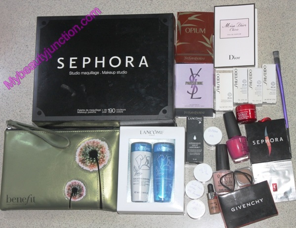 Sephora Middle East samples and gifts with purchase