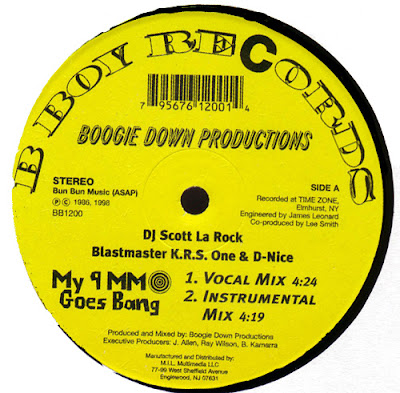Boogie Down Productions – My 9mm Goes Bang / Criminal Minded (Reissue VLS) (1986-1998) (320 kbps)