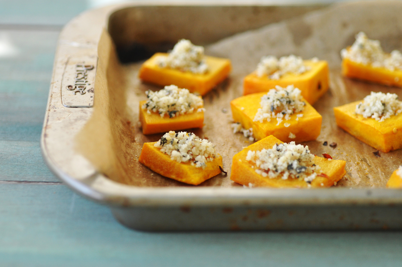 Anja's Food 4 Thought: Roasted Butternut Squash with Nut Sage Parmesan