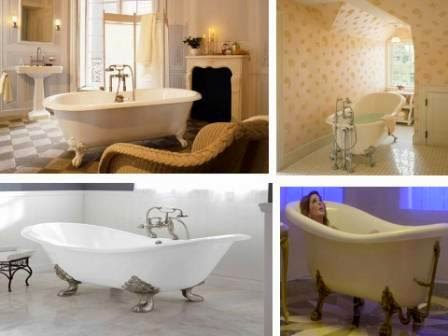 standing bathtub