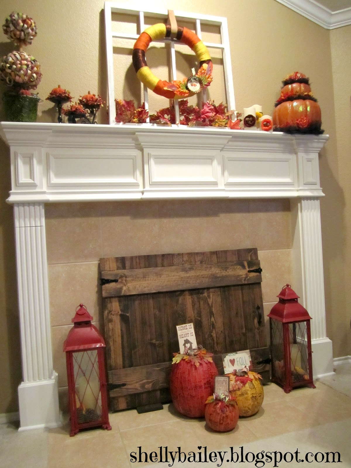 shelly bailey handmade fireplace cover diy faux gate