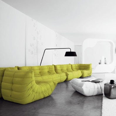 vision d co by sofia chez ligne roset canap togo. Black Bedroom Furniture Sets. Home Design Ideas