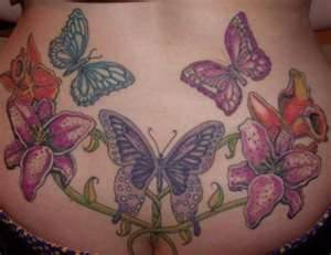 Lower Back Butterfly Tattoos
