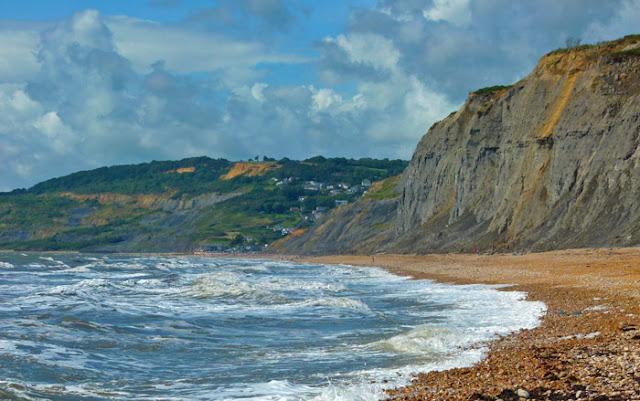 Charmouth, Jurassic coast, beach, St Gabriel's, Dorset