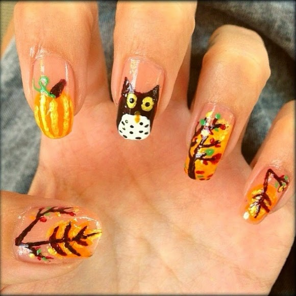 Autumn Nail Design 3
