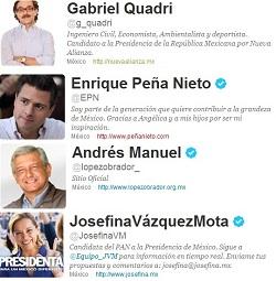 candidatos de méxico a la presidencia usan twitter