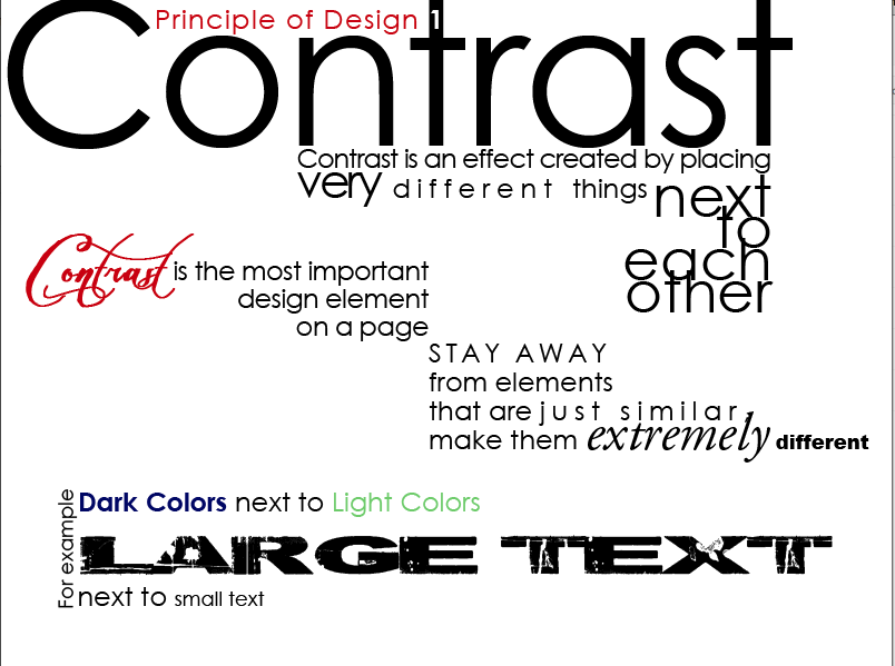 Principles Of Design Contrast : Media arts academy photography film graphic design