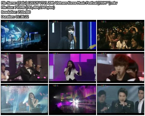 [Show] VTV1 20th Vietnam Korea Music Festival 120325