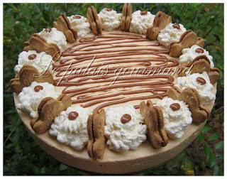 Gâteau mousse au dulce de leche et sa croûte à l'érable