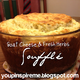 Goat Cheese and Fresh Herb Souffle, Meatless Monday