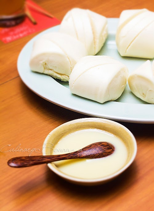 Steamed Mantou with Sweet Condensed Milk