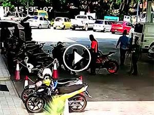 Thumbnail image for (Video) Bikers Kurang Ajar Ludah Pekerja Petronas