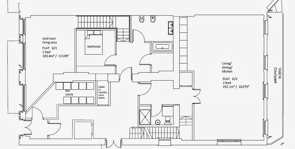 倫敦霍爾本喬治亞時代建築平面圖
