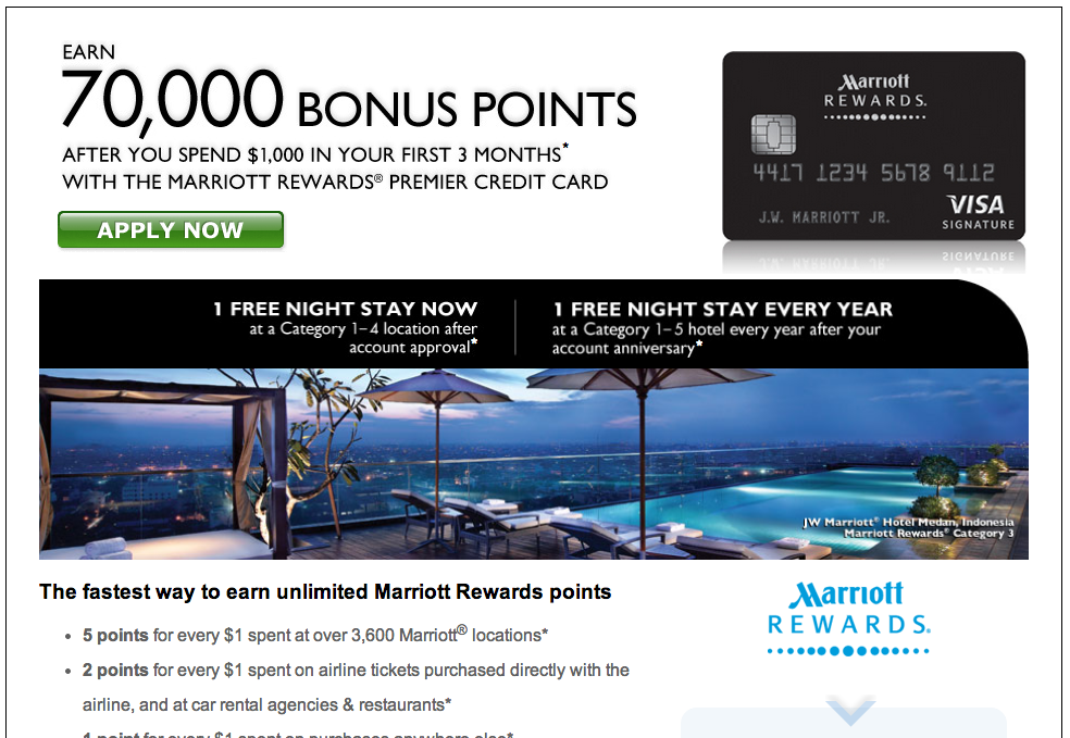 Green Espirit: Chase Marriott 70,000 Bonus Points and New Favorable ...
