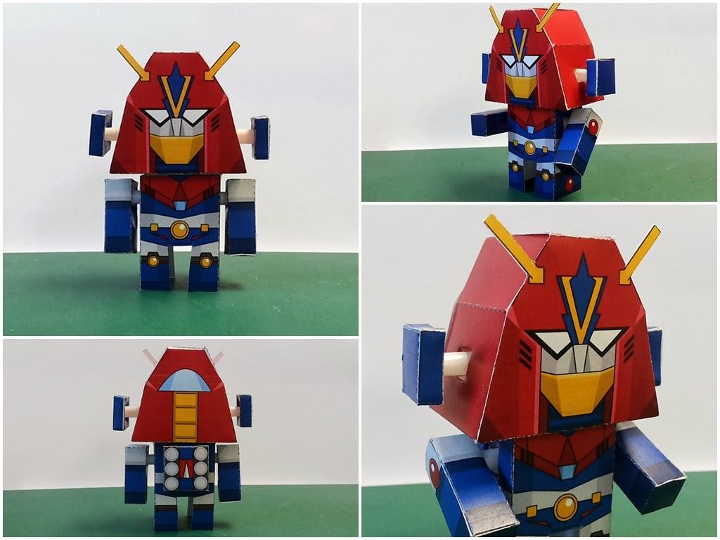 Chodenji Robo Combattler V Paper Toy