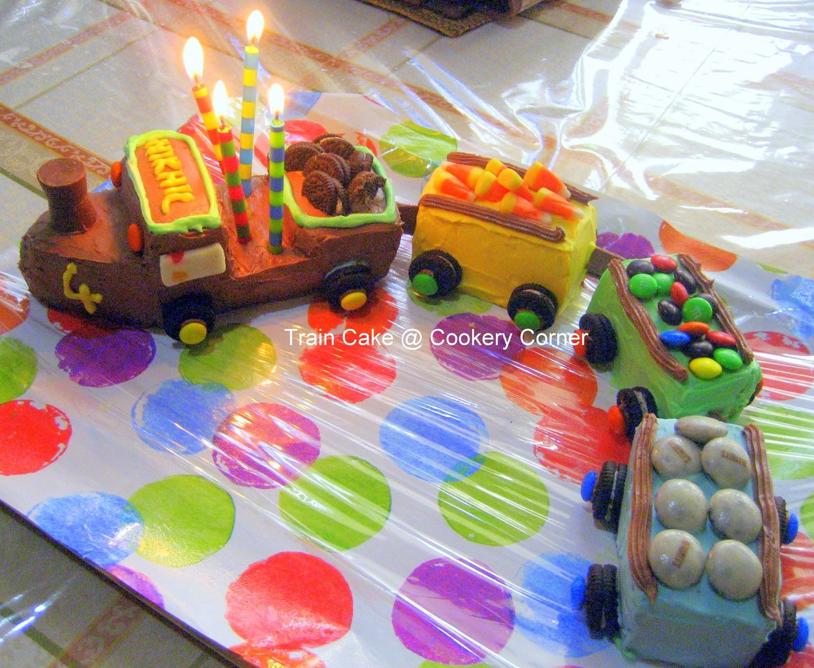 cookery corner train cake on chocolate train birthday cake recipe