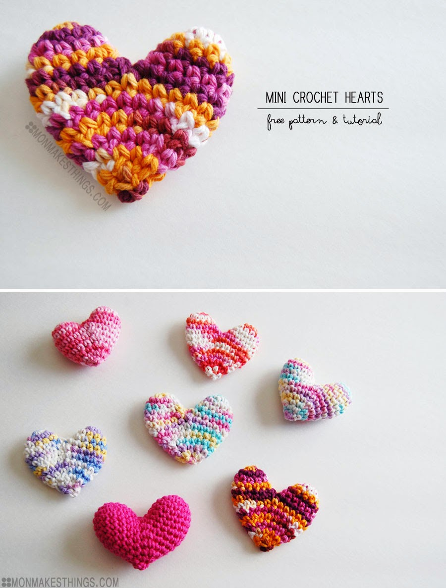 Mon makes things mini crochet heart pattern mini crochet heart pattern bankloansurffo Images