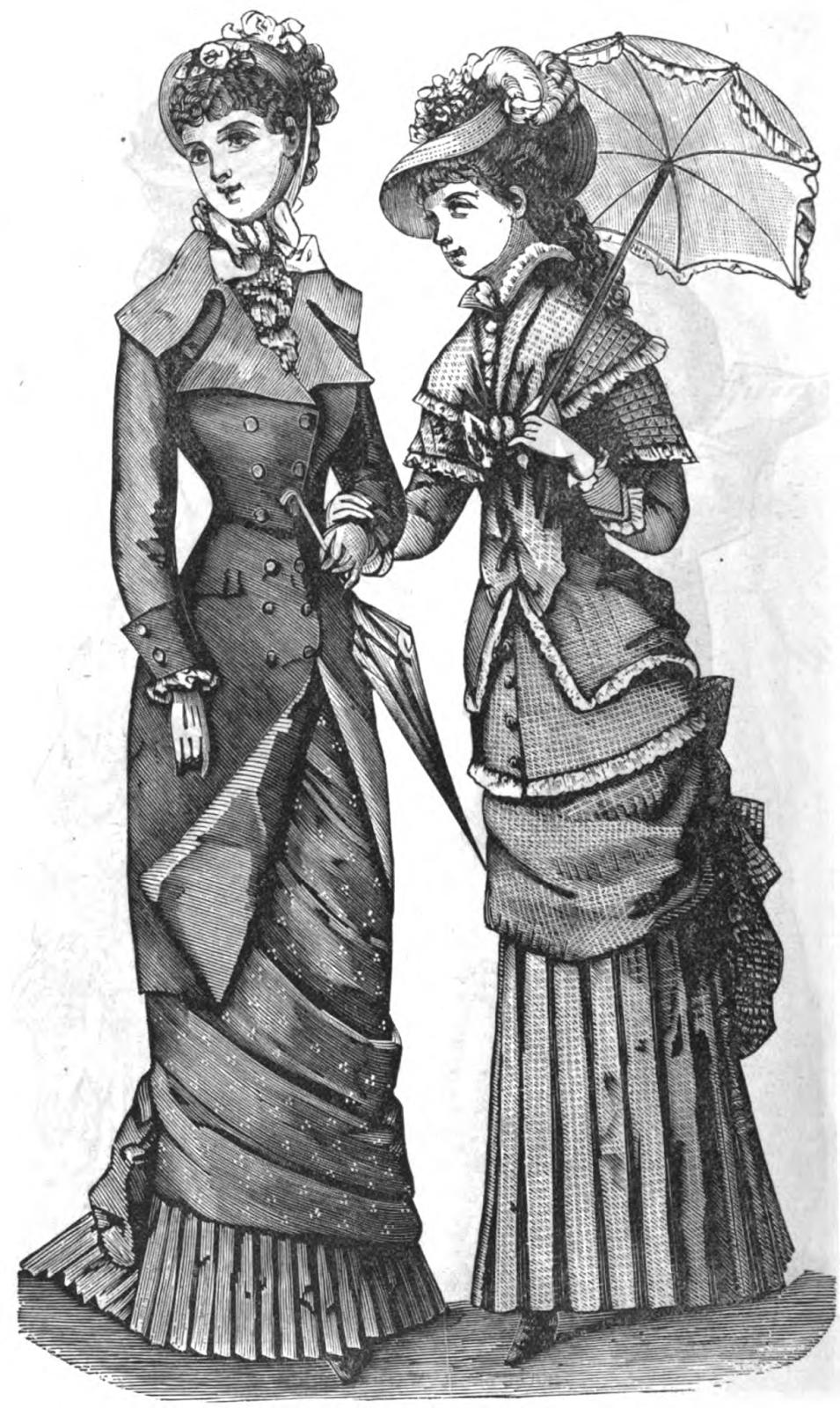 19th century historical tidbits 1882 womens fashions