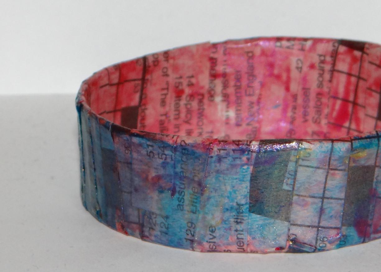Don't Eat the Paste: Paper Bangle Bracelets- Tutorial